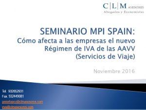 Seminario MPI Spain